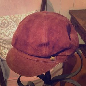 Banana republic brown suede hat